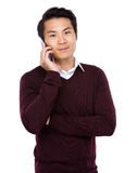 Man talk to cellphone Royalty Free Stock Image