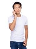 Man talk to cellphone Stock Photo