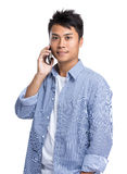 Man talk to cellphone Stock Photography