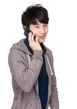 Man talk to phone Royalty Free Stock Image
