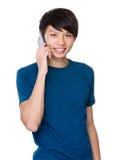 Man talk to phone Stock Photos