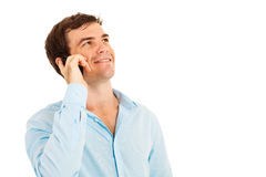 Man talking cell royalty free stock image