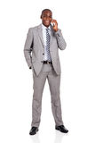 Man talking cell phone Stock Photography