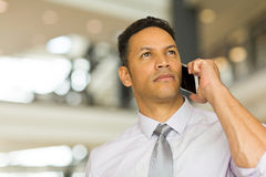 Man talking on cell phone Stock Photo