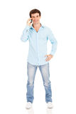 Man talking cell phone Royalty Free Stock Images
