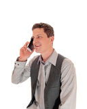 Man talking on cell phone. Stock Photo