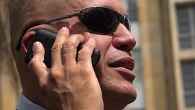 Man Talking on Cell Phone stock footage