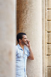 Man talking on cellphone Royalty Free Stock Photography