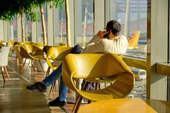 Airport Lounge waiting royalty free stock photo