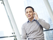 Man talking on cellphone Stock Image