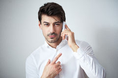 Man talking on the cellphone Royalty Free Stock Image