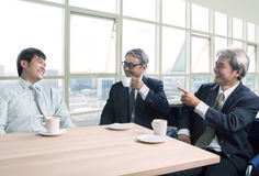 Man talking with happiness and relaxing emotion ,business people Stock Photos
