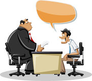 Man talking with his boss royalty free illustration