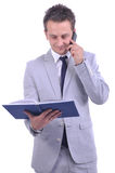Man talking on his smartphone Royalty Free Stock Image