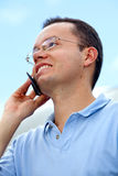 Man talking on the mobile Stock Image