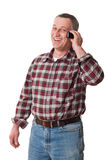 Man talking mobile Stock Photos
