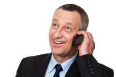 Man talking mobile Stock Photography