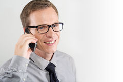 Man talking on mobile Royalty Free Stock Photos