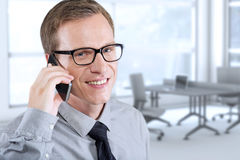 man talking on mobile Stock Photos