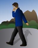 Man Talking On Mobile Stock Photos