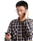 Man talking on mobile phone Royalty Free Stock Images