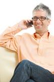 Man talking on mobile phone Royalty Free Stock Image
