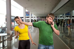 Man talking by mobile phone Royalty Free Stock Images