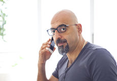 The man talking mobile phone Stock Photography