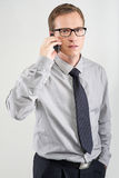 Man talking on mobile Stock Photography