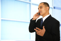 Man Talking In Office Environment Royalty Free Stock Photo