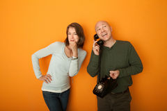 Free Man Talking On Telephone Royalty Free Stock Photos - 19034488