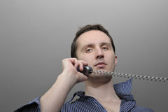 Man talking by phone Stock Image