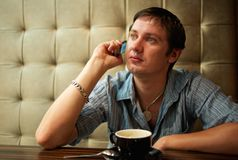 Man talking on the phone Royalty Free Stock Images