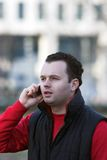 Man talking on phone. Man talking on a mobile phone Royalty Free Stock Photo