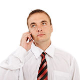 Man talking by phone. Stock Images
