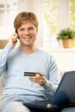 Man talking on phone Royalty Free Stock Image