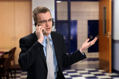 Man Talking on Phone Stock Photography