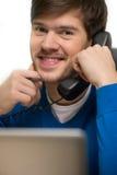 Man talking at phone. Stock Photos