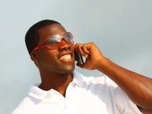 Man Talking on the Phone Stock Photo