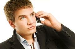 Man talking on the phone Stock Photos
