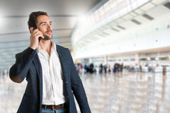 Man Talking on the Phone Royalty Free Stock Photography