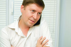 Man talking on the phone. Businessman talking on a cell phone Stock Photography