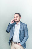 Man talking on the phone. Businessman talks Royalty Free Stock Images