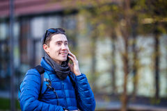 Man talking on phone Stock Photography