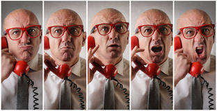 Man talking on the phone Royalty Free Stock Photo