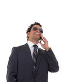 Man talking on the phone and laughing Royalty Free Stock Photo
