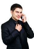 Man talking on phone Stock Images
