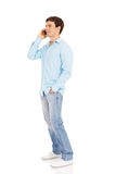Man talking phone Royalty Free Stock Photography