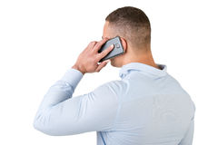 Man Talking on the Phone Stock Images