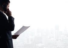 Man talking on phone Stock Image